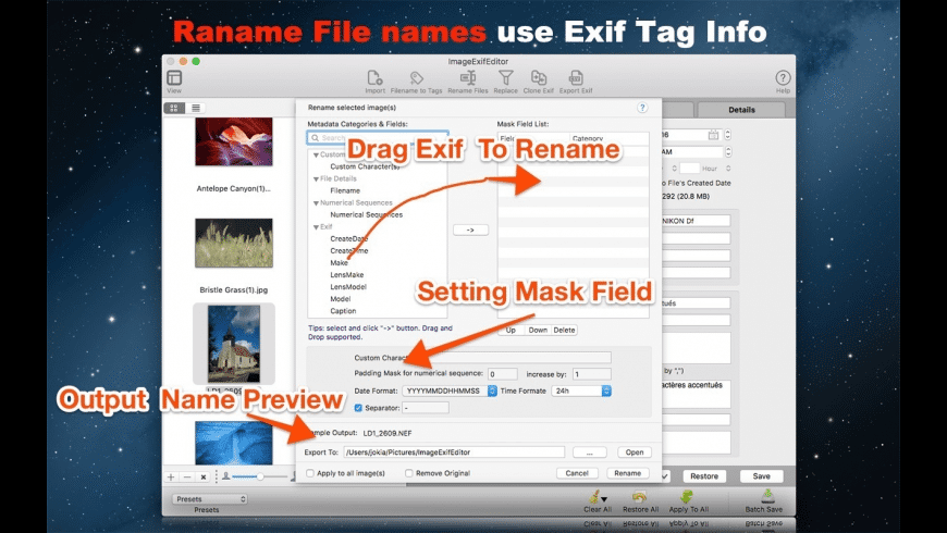 Image Exif Editor for Mac - review, screenshots