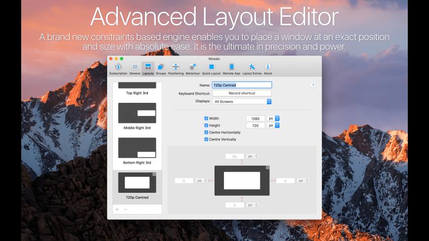 Mosaic Pro for Mac - review, screenshots