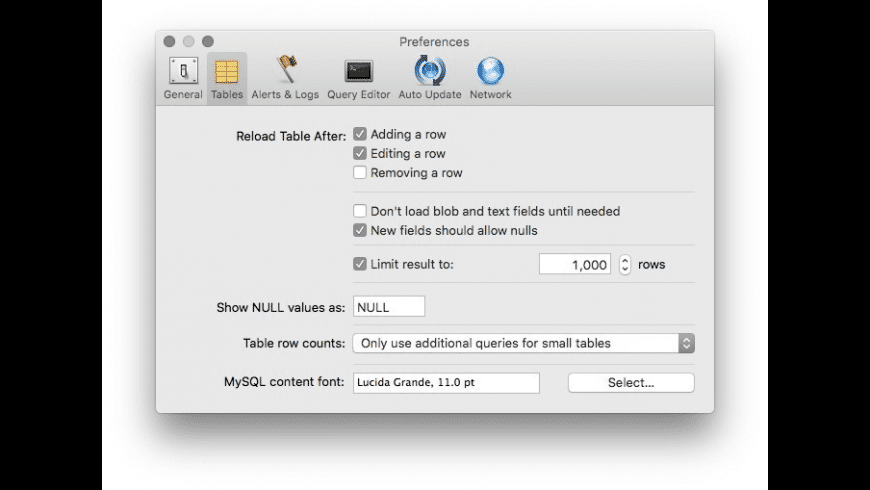 Sequel Pro for Mac - review, screenshots