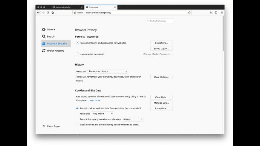 Firefox ESR for Mac - review, screenshots