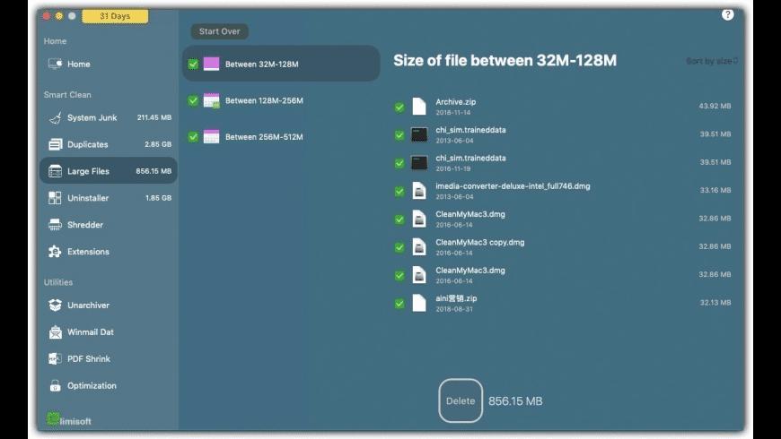 iMac Cleaner for Mac - review, screenshots