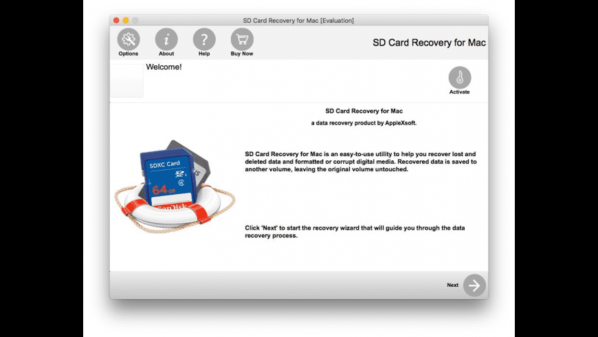 SD Card Recovery for Mac - review, screenshots