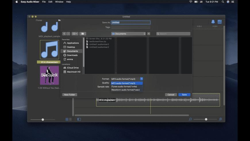 Easy Audio Mixer Mac 破解版 简易音频剪辑合并编辑工具-麦氪派