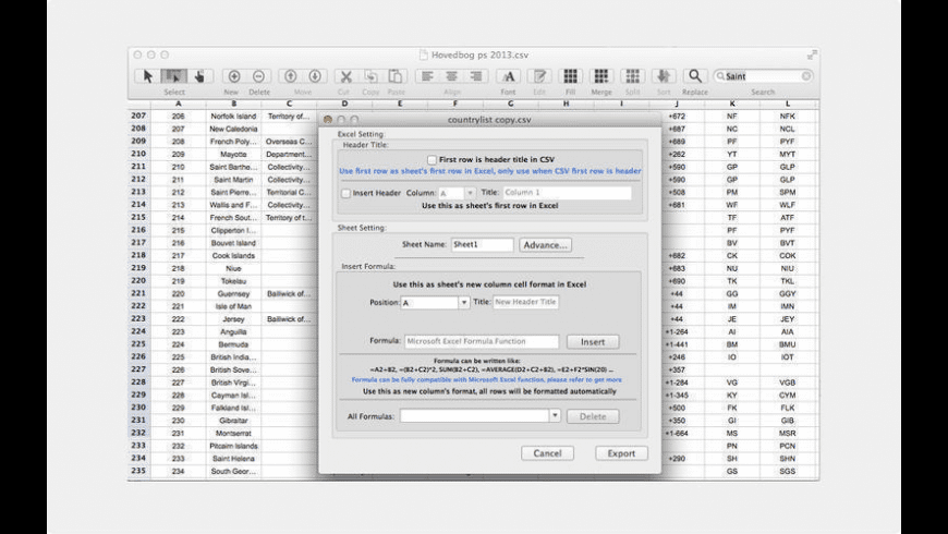 CSV Editor Pro for Mac - review, screenshots