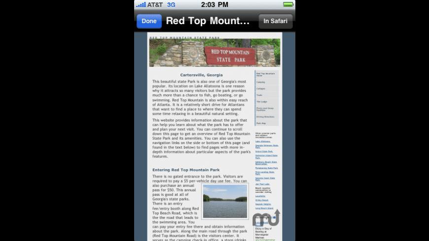 Campwhere for Mac - review, screenshots