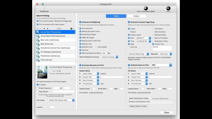 Badia Printools for QuarkXPress for Mac - review, screenshots