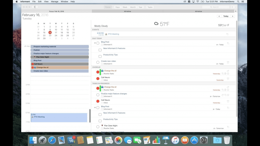 Informant for Mac - review, screenshots