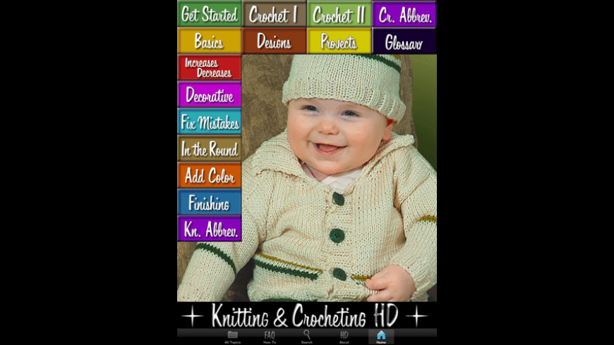 Knitting & Crocheting HD for Mac - review, screenshots