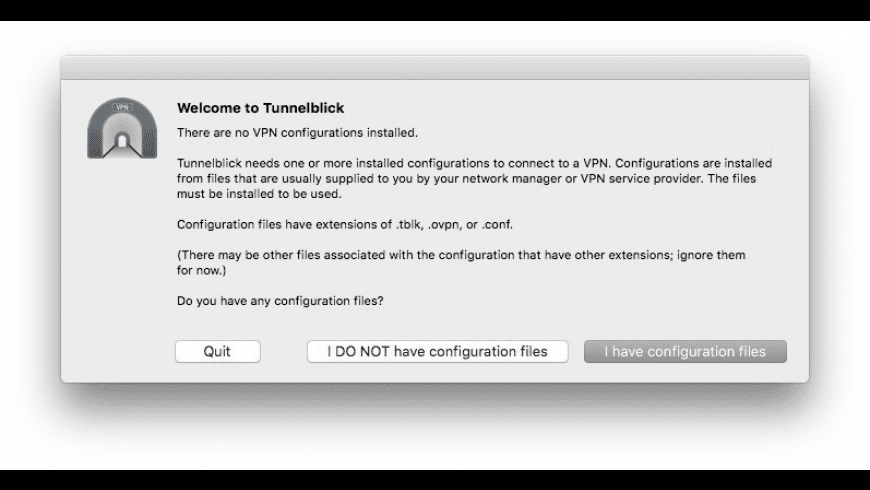 Tunnelblick for Mac - review, screenshots