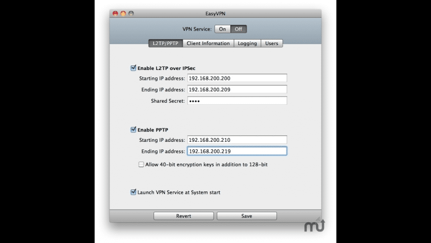 EasyVPN for Mac - review, screenshots