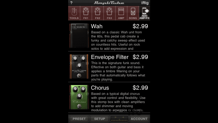AmpliTube FREE for Mac - review, screenshots