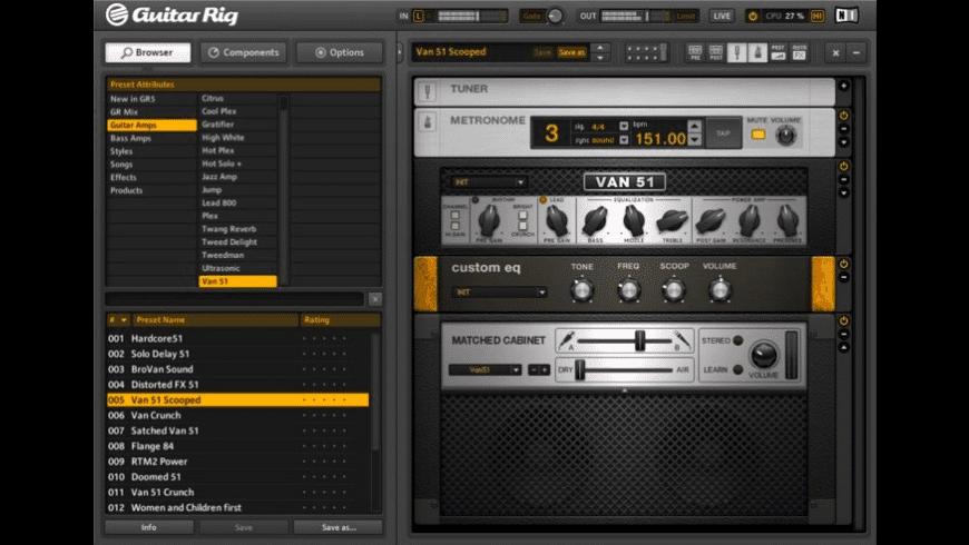 Guitar Rig for Mac - review, screenshots