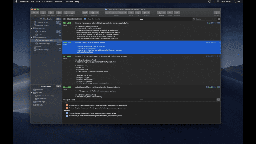 Xversion for Mac - review, screenshots