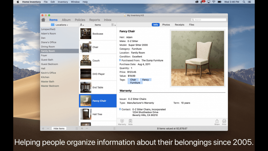 Home Inventory for Mac - review, screenshots