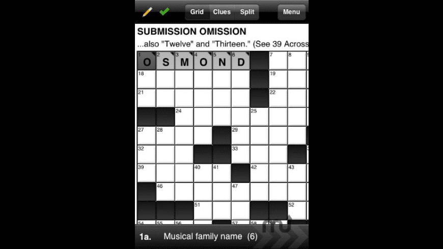 365 Crosswords for Mac - review, screenshots