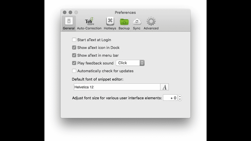 aText for Mac - review, screenshots