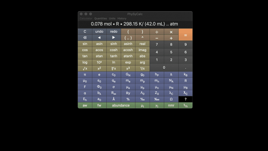 PhySyCalc for Mac - review, screenshots