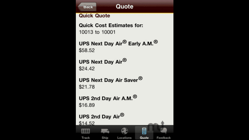 UPS Mobile for Mac - review, screenshots