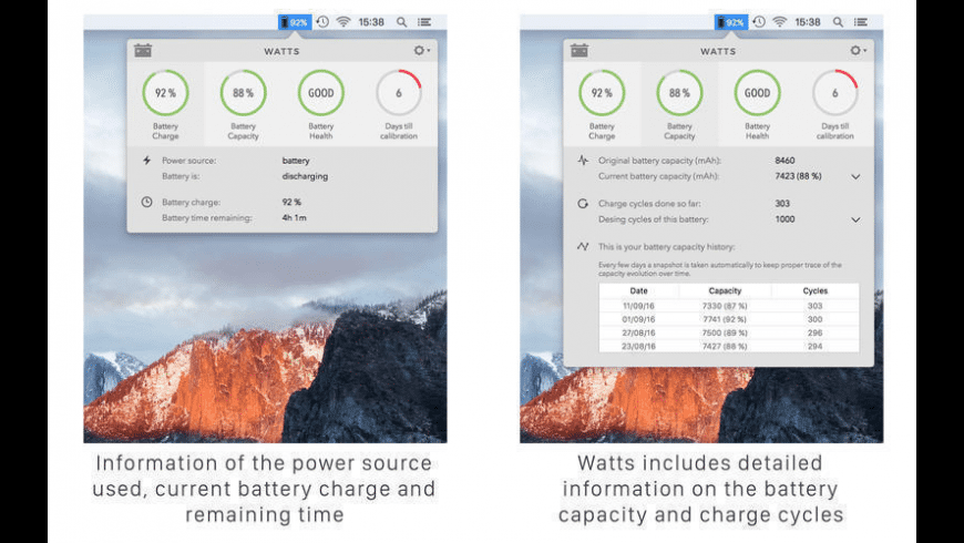 Watts for Mac - review, screenshots