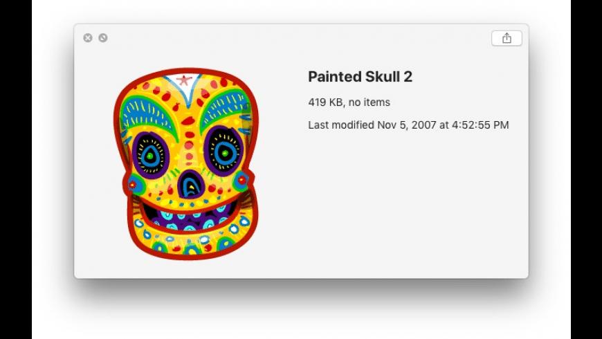 Dia de los Muertos Icons for Mac - review, screenshots