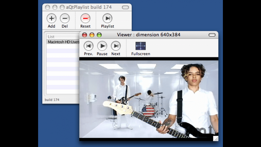 aQTPlaylist for Mac - review, screenshots