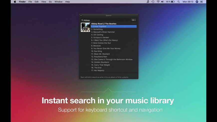 TunesArt for Mac - review, screenshots