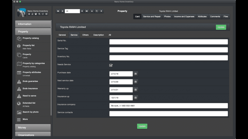 Nano Home Inventory for Mac - review, screenshots