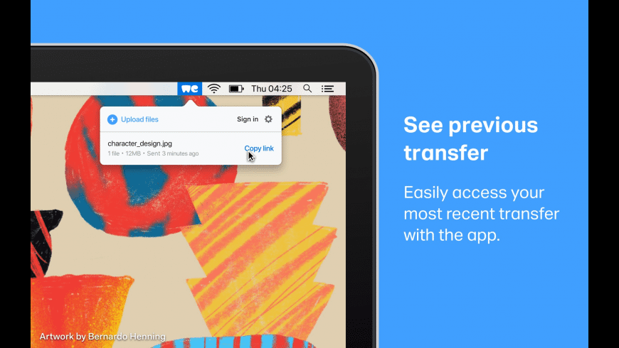 WeTransfer for Mac - review, screenshots