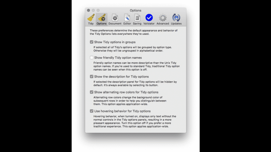 Balthisar Tidy Classic for Mac - review, screenshots