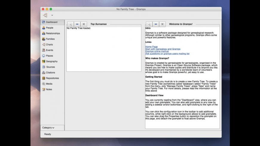 Gramps for Mac - review, screenshots