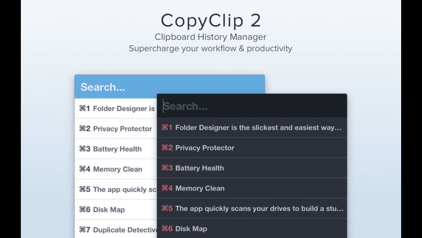 CopyClip for Mac - review, screenshots