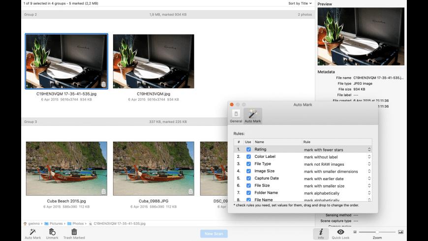 Duplicate Photo Finder for Mac - review, screenshots