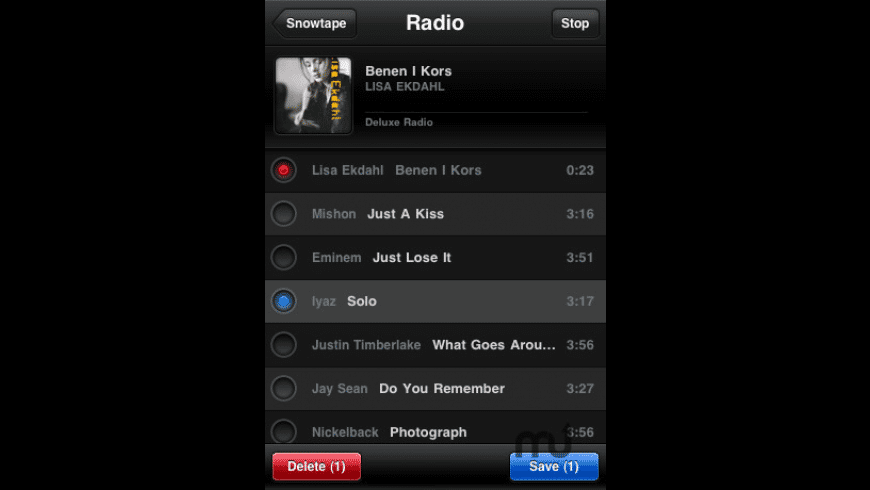 Snowtape Radio for Mac - review, screenshots