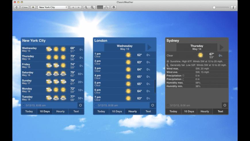 ClassicWeather for Mac - review, screenshots