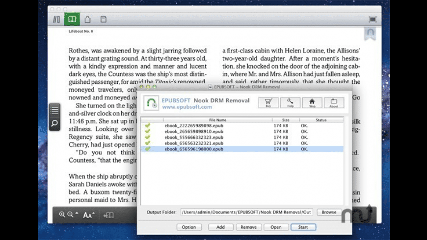 Nook DRM Removal for Mac - review, screenshots