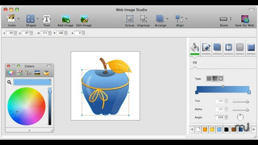Free Web Image Studio for Mac - review, screenshots