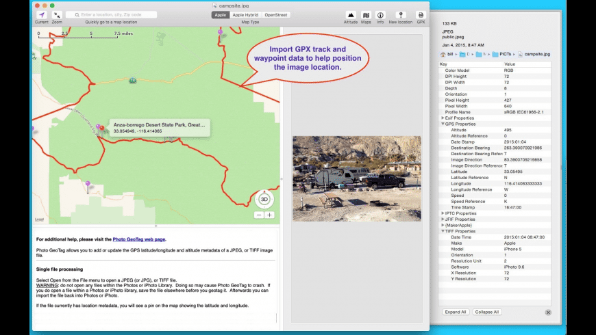 Photo GeoTag for Mac - review, screenshots