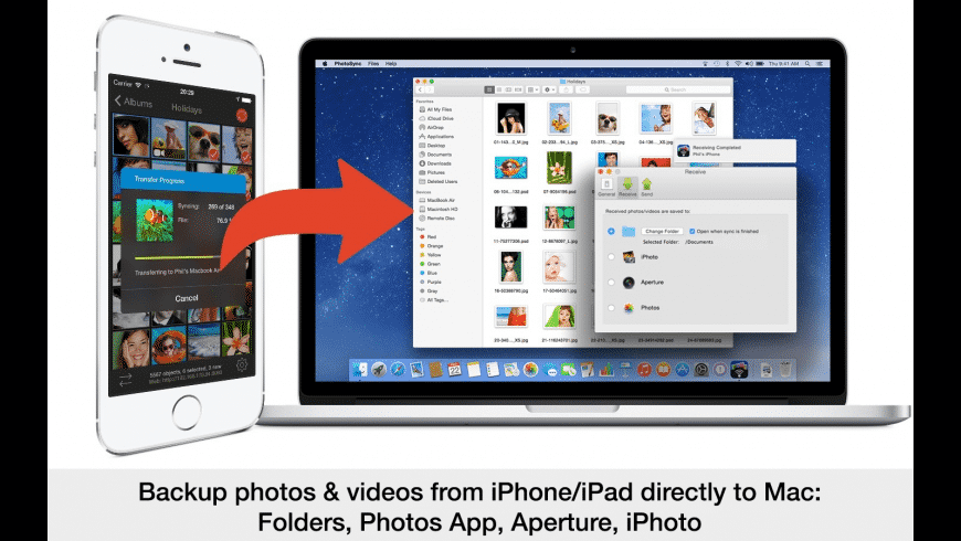 PhotoSync for Mac - review, screenshots