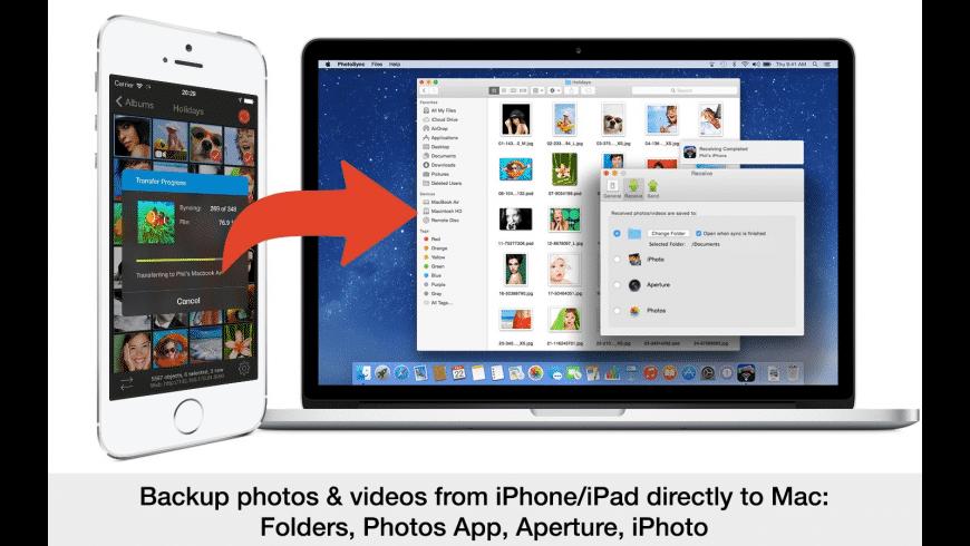 PhotoSync for Mac - review, screenshots
