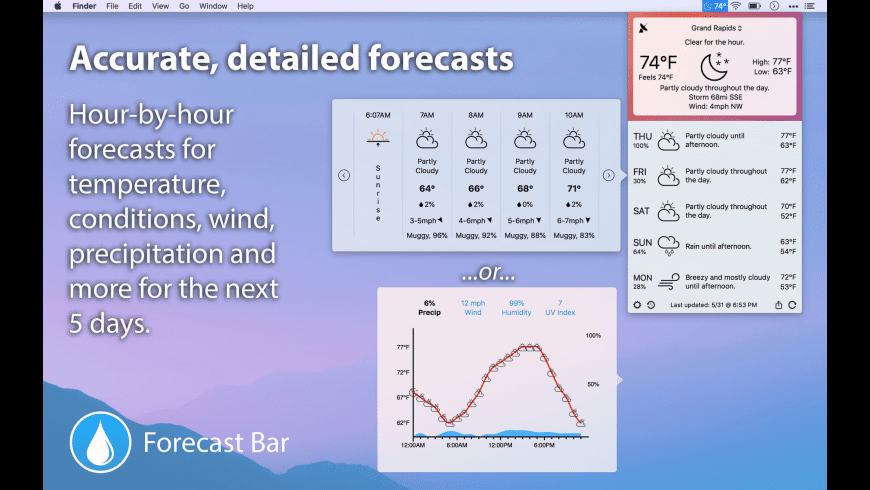 Forecast Bar for Mac - review, screenshots