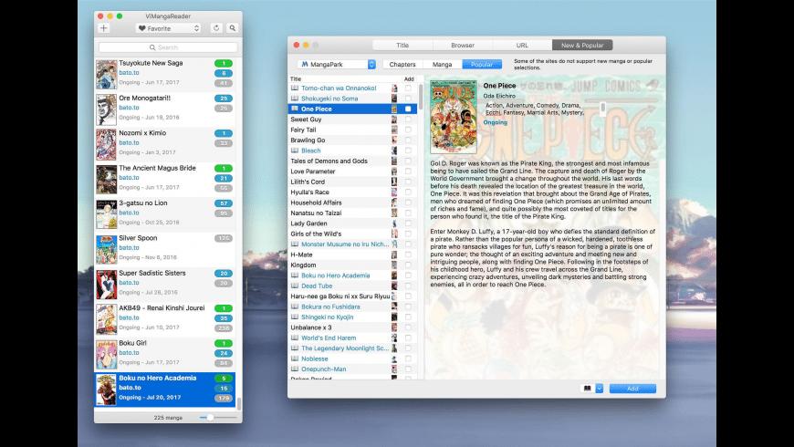 ViMangaReader for Mac - review, screenshots