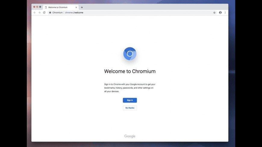 Portable Chromium for Mac - review, screenshots