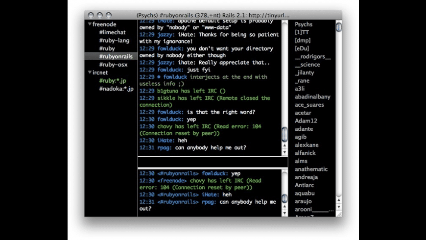 LimeChat for Mac - review, screenshots