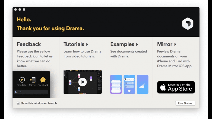 Drama for Mac - review, screenshots