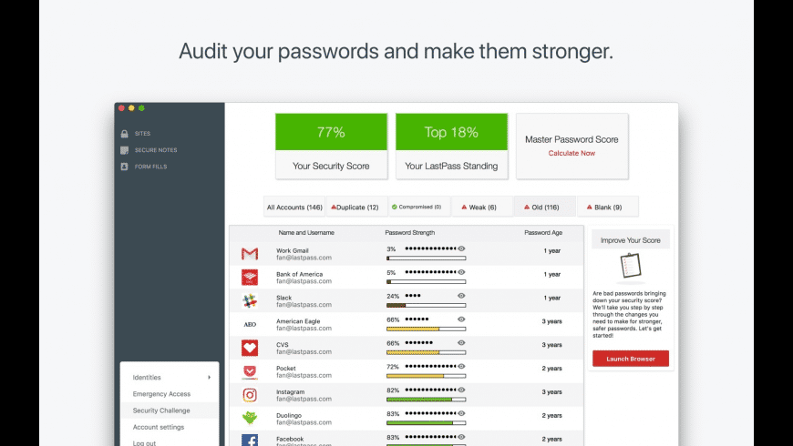 LastPass for Mac - review, screenshots