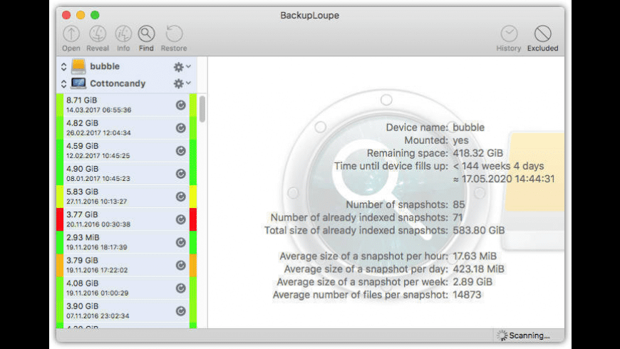BackupLoupe for Mac - review, screenshots