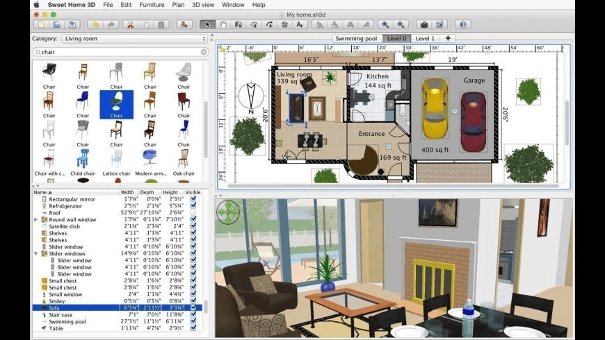 Sweet Home 3D for Mac - review, screenshots
