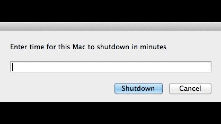 Shutdown Timer for Mac - review, screenshots