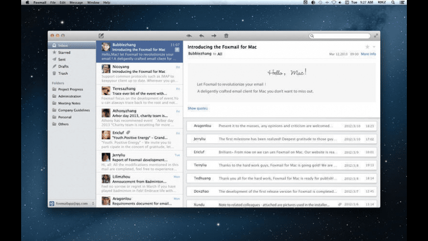 Foxmail for Mac - review, screenshots