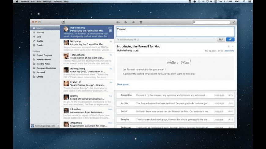 Foxmail for Mac - review, screenshots